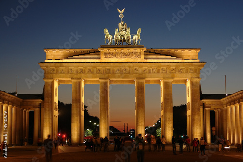canvas print motiv - Eishier : Brandenburg gate