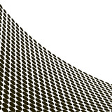 Abstract halftone wave in black and white - vector poster