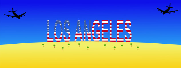 planes flying to Los Angeles