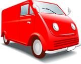 Mini Buss -  Retro Model Car. Hobby, collection. Vector poster