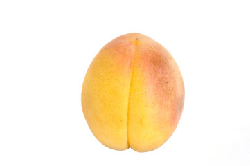 Apricot on isolated white background