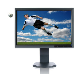 LCD Monitor Soccer Concept