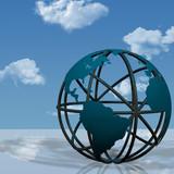 Virtual Earth Globe Sculpture poster