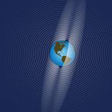 Earth Rings Radiate Global Communication poster