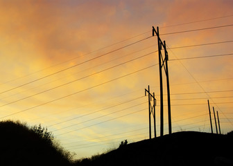 Powerline Sunset B