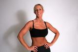 Woman flexing poster