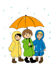 Kids in Raincoats
