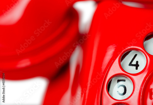 Red Phone Rotary Dial