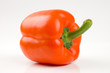 Perfect orange bell pepper isolated