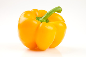 Yellow bell pepper isolated