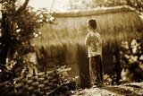 Fototapety Village boy