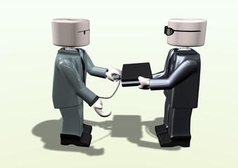 suspicious illegal business mans meeting