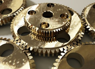 gold gears