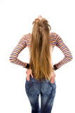 young woman and magnificent hair back poster