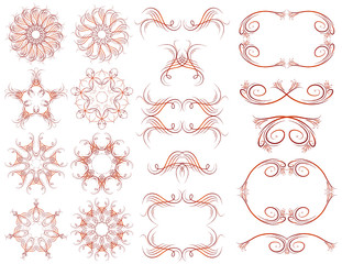 Decorative frame and ornaments for design, vector illustration