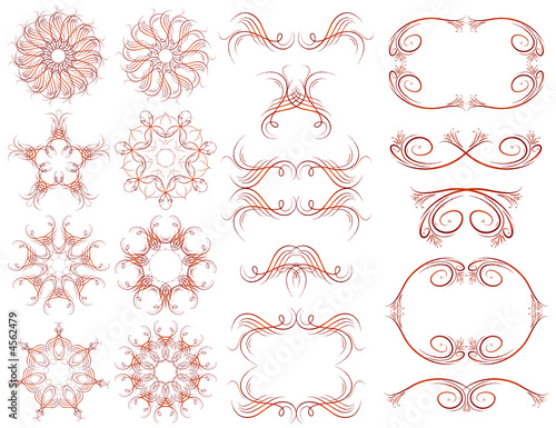 Decorative frame and ornaments for design, vector illustration