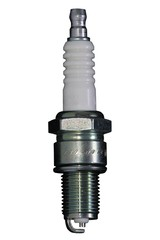 A spark plug for an engine isolated on a white background