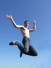 Happy man jumping 2