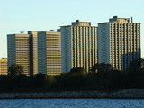 Condominiums by the lake poster