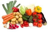Set of different autumn vegetables