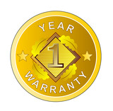 One year warranty gold medal poster