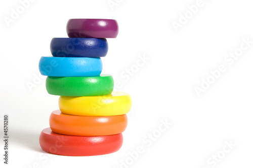 Stacking rainbow toy