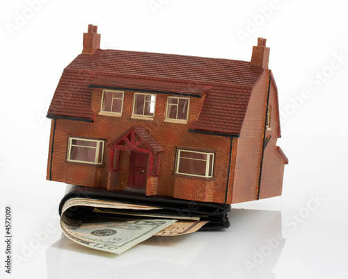 house and wallet