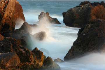 Stones and sea surf