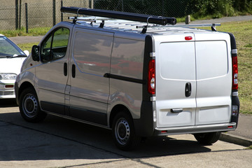 parked grey cargo van
