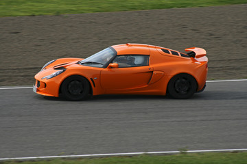 supercar on track