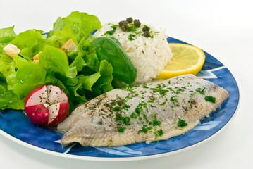 gourmet matjes filet mit soße und salat 2