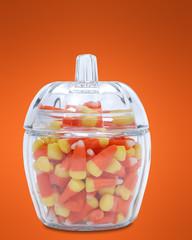 candy corn dish
