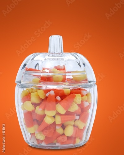 candy corn dish