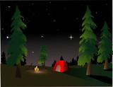 Camping at Night poster