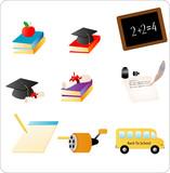 School Objects poster