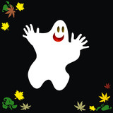 friendly Halloween ghost poster