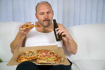 Beer and pizza series