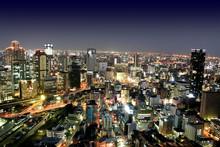 Osaka city by night