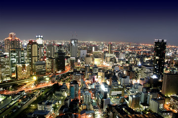 Osaka city by night