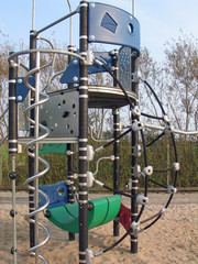 Modern playground equipment