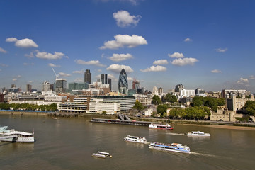London  and River Thames skyline