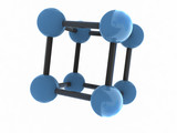 isolated molecule - 3d render poster