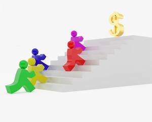 Race behind money