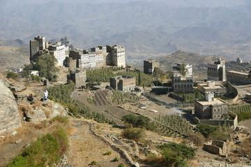 Yemen, Village de montagne d'Arabie