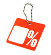Sale tag with percent symbol