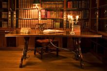 Lesesaal in der alten Bibliothek.