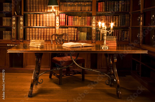 Reading room in old library.  - 4593270