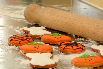 Baking Hallowen Cookies
