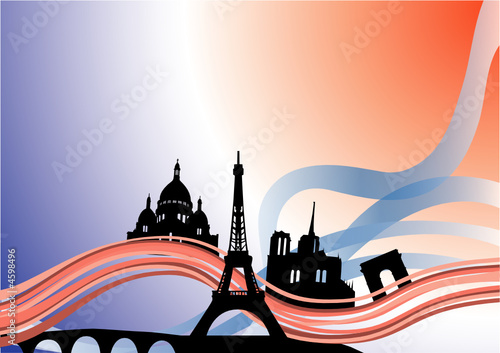 Monuments de Paris - Illustration