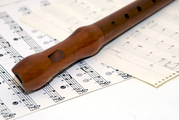 sheet music with recorder
